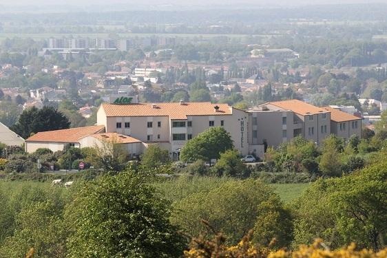 vue de l'hôtel aloé du mont des alouettes