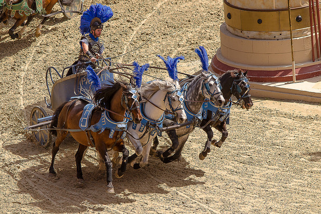 La course de char du Puy du Fou