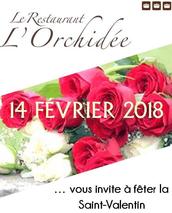 Saint Valentin au Restaurant L'Orchidée