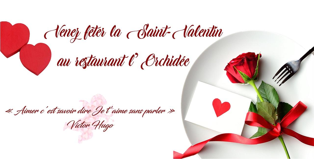menu saint valentin l'orchidée